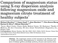 מאמר מתוך Magnesium Research 2012
